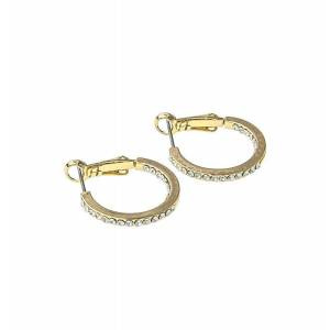 Snö Of Sweden Story Small Ring Earring Gold/Clear 20mm