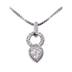 Diamantsmykke Madonna i hvitt gull 14k  0,30 tw/si diamanter.