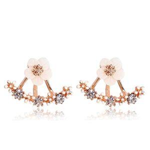 Everneed Melanie Flower Earrings Rose Gold 14 mm x 14 mm