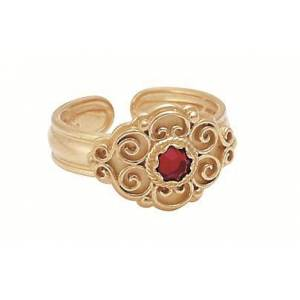 Ring, forg. m.raud stein artnr: 377607