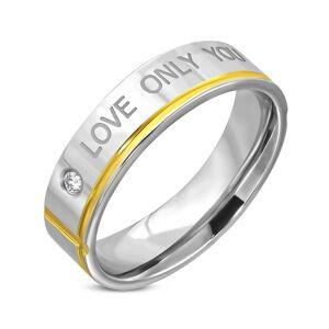 Love Only You - Stålring Fattet med Sten