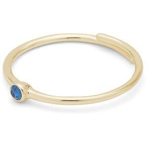 Pilgrim Lulu Ring Justerbar, Guld/Blå
