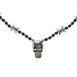 Halsband Skull Krom