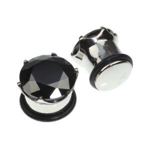 Bright Black Diamond Piercing Plugg