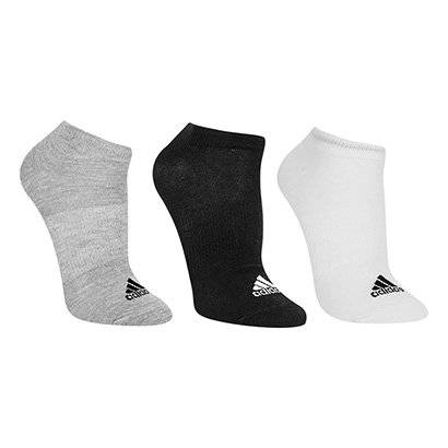 Meia Invisível Adidas Thin Pacote C/ 3 Pares - Unissex