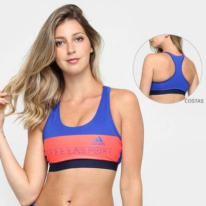 Top Com Bojo Adidas StellaSport Mdia Sustentao - Feminino