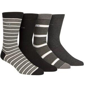 Calvin Klein 4-pak Kyler Striped Socks Gift Tin - Black/Grey