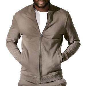 Bread & Boxers Bread and Boxers Men Jersey Jacket - Grey * Kampagne *