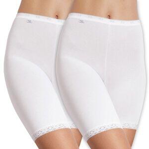 Sloggi 2 pakkaus Naisten Basic Long - White * Kampanja *  - Size: 10007643 - Color: valkoinen