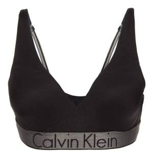 Calvin Klein Customized Stretch Plunge Push-Up - Black  - Size: QF4052E - Color: musta
