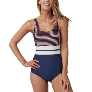 Abecita Retro Navy Swimsuit - Navy Striped  - Size: 406163 - Color: Merensininen Raidallinen