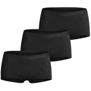 Björn Borg 3 pakkaus Cotton Stretch Solid Minishorts - Black  - Size: 9999-1630 - Color: musta