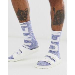 Birkenstock slub logo socks in blue - Blue