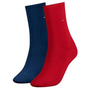 Tommy Hilfiger 2-pakning Women Classic Casual Socks - Blue/Red