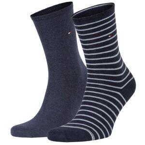 Tommy Hilfiger 2-pakning Classic Small Stripe Socks - Blue Striped