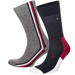 Tommy Hilfiger 2-pakning Men Iconic Hidden Socks - Grey/Blue