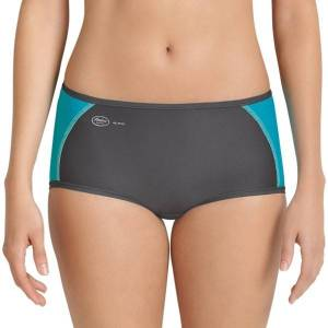 Anita Active Sporty Brief Panty - Grey/Turquoise