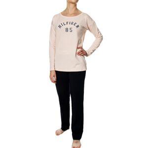Tommy Hilfiger Bold LS Logo Pyjama Set - Blue/Pink * Kampanje *