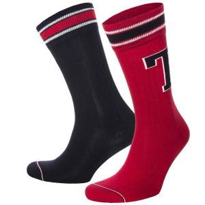 Tommy Hilfiger 2-pakning Men Patch Socks - Red