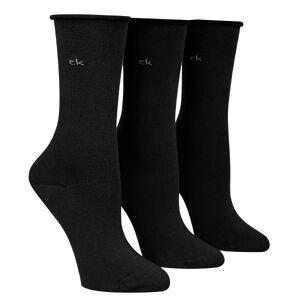 Calvin Klein 3-pakning Juno Bamboo Roll Top Socks - Black * Kampanje *