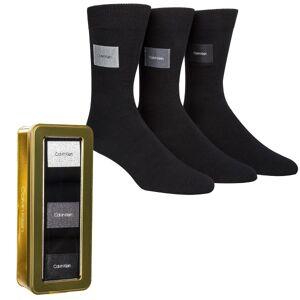 Calvin Klein 3-pakning Forbes Logo Patch Socks Gift Box - Black