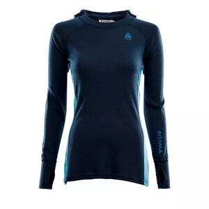 Aclima Warmwool Hoodsweater Woman (Navy Blazer / Azure Blue / Blue Sapphire) - 259 Navy Blazer / Azure Blue / Blue Sap, M