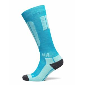 Helly Hansen W Hh Lifa Merino Blue Alpine S Lingerie Hosiery Socks Blå Helly Hansen