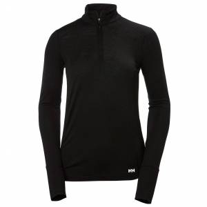 Helly Hansen W Hh Merino Mid 1/2 Zip XL Black