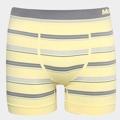 Cueca Mash Boxer Sem Costura Listrada - Masculino-Amarelo Claro