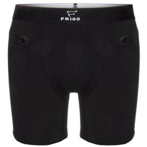 Frigo Revolutionwear Inc. Frigo 4 Cotton Boxer Brief 6 Inch - Black  - Size: 4 - Color: musta