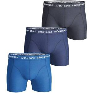 Björn Borg 3 pakkaus Essential Shorts - Navy/Blue  - Size: 9999-1024 - Color: laiv.sin/sin