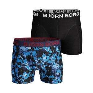 Björn Borg 2 pakkaus Core Branch Shorts 1215 - Blue Pattern  - Size: 9999-1215 - Color: Sininen kuvioi