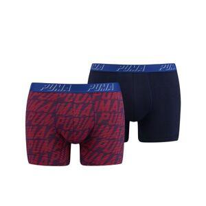 Puma 2 pakkaus Optical Logo AOP Boxer - Red/Blue * Kampanja *