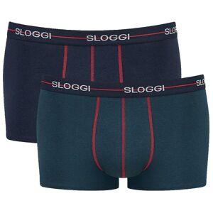 Sloggi 2-pakning For Men Start Hip - Blue/Green