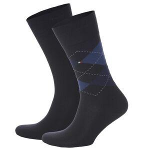 Tommy Hilfiger 2-pakning Men Sock Check - Navy/Blue
