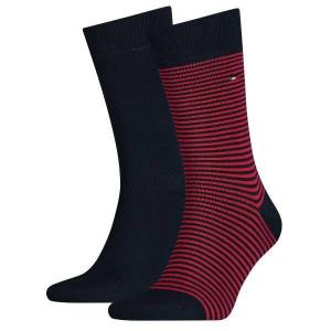 Tommy Hilfiger 2-pakning Men Sock Stripe - Red striped
