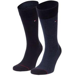 Tommy Hilfiger 2-pakning Men Sock Stripe - Black/Blue