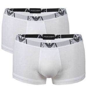 Emporio Armani 2-pakning Stretch Cotton Trunk - White