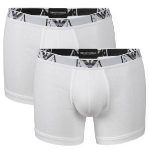 Emporio Armani Armani Stretch Cotton Boxers 2-pakning - White