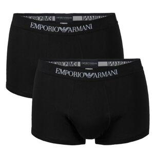Emporio Armani Armani Pure Cotton Trunk 2-pakning - Black