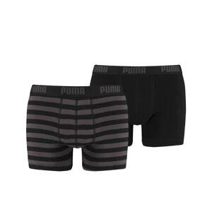Puma 2-pakning Stripe Boxer - Black