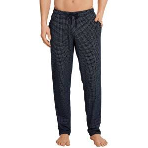 Schiesser Mix and Relax Jersey Lounge Pants - Blue Pattern