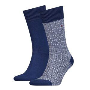 Tommy Hilfiger 2-pakning Men Structure Knit Socks - Blue