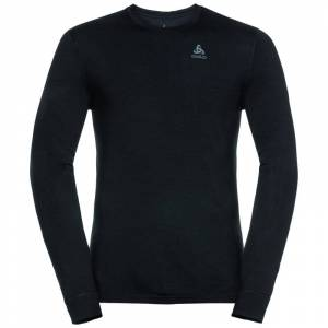 Odlo Men's Suw Top Crew Neck L/S Natural Merino Warm Sort
