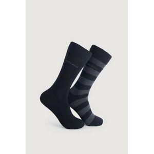 Boss Strumpor 2-Pack Block Stripe Sock Svart  Male Svart