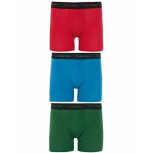 Calvin Klein Cotton Stretch 3-Pack Boxer Breif Red/Green/Blue