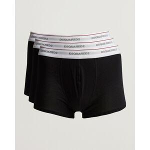 Dsquared2 3-Pack Cotton Stretch Trunk Black