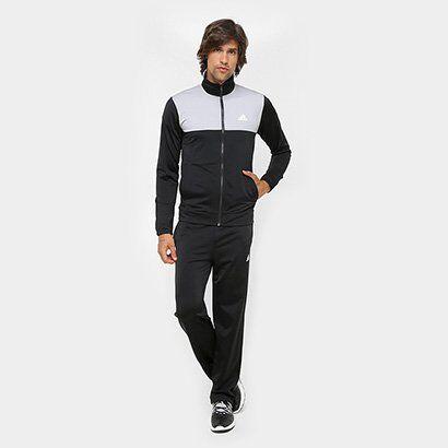 Agasalho Adidas Back 2 Basics Masculino - Masculino-Preto+Cinza