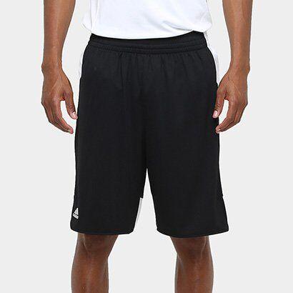 Bermuda Adidas Teamstock Masculina - Masculino-Preto