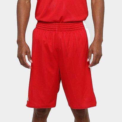 Bermuda Adidas Treino Dupla Face Masculina - Masculino-Vermelho